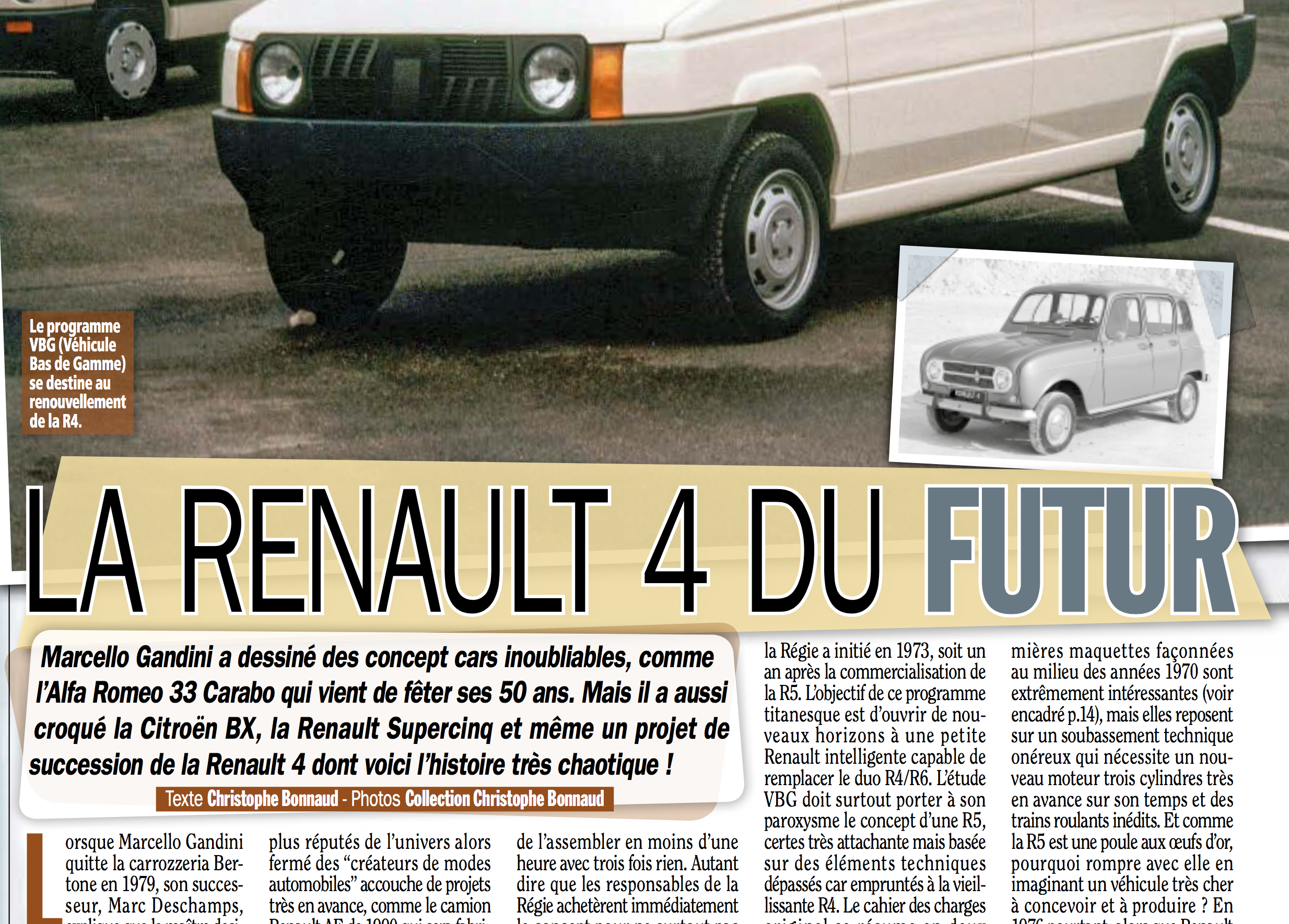 "La ""Renault 4 du futur"" de Marcello Gandini dans le magazine Gazoline"