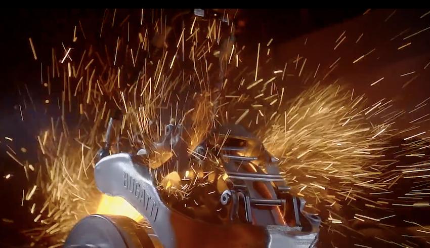 Les étriers de freins de la Bugatti Chiron imprimés en 3D et en titane !