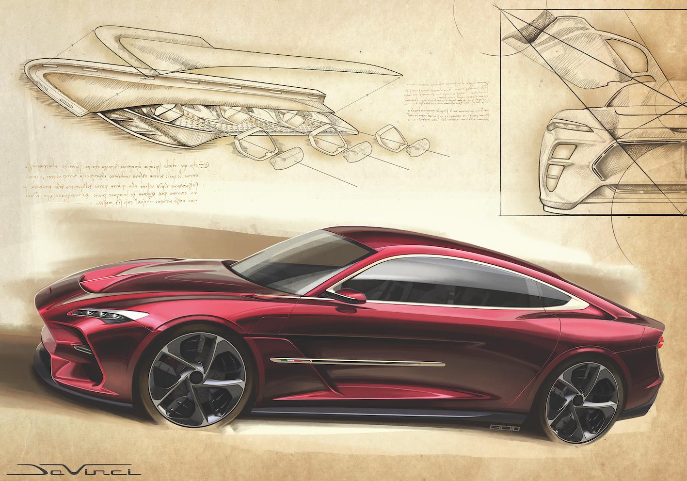 Italdesign DaVinci : 100% électrique ou… à moteur V8 4 litres !