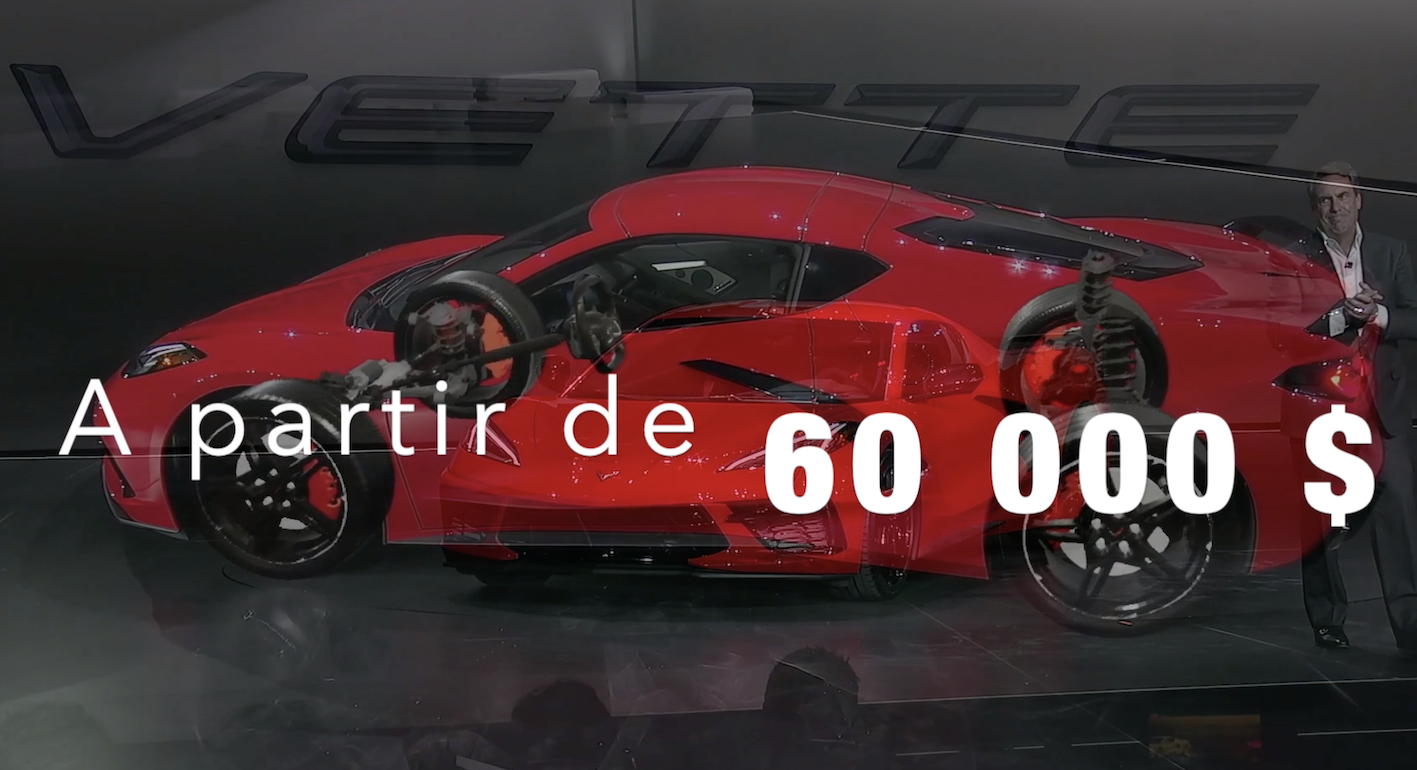 ENGLISH – Unpublished video of LIGNES/auto : the Corvette is unveiled