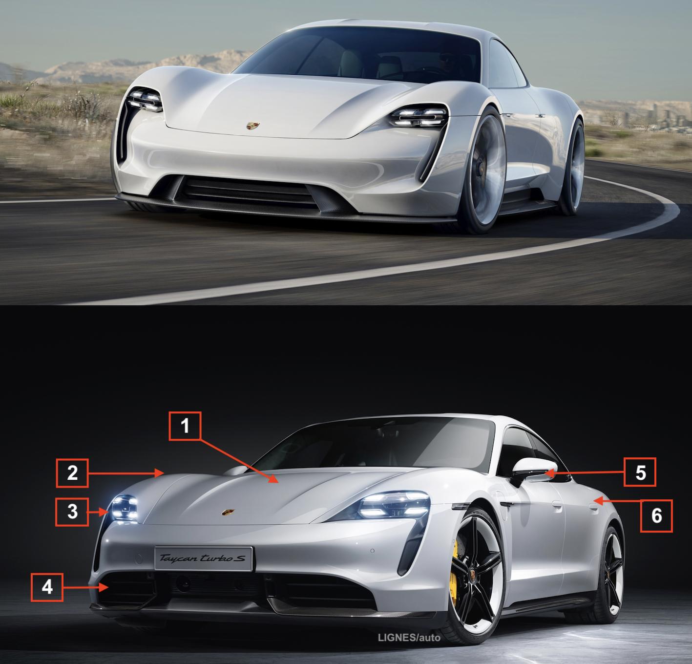 SPECIAL TAYCAN : la série au plus proche du concept-car !