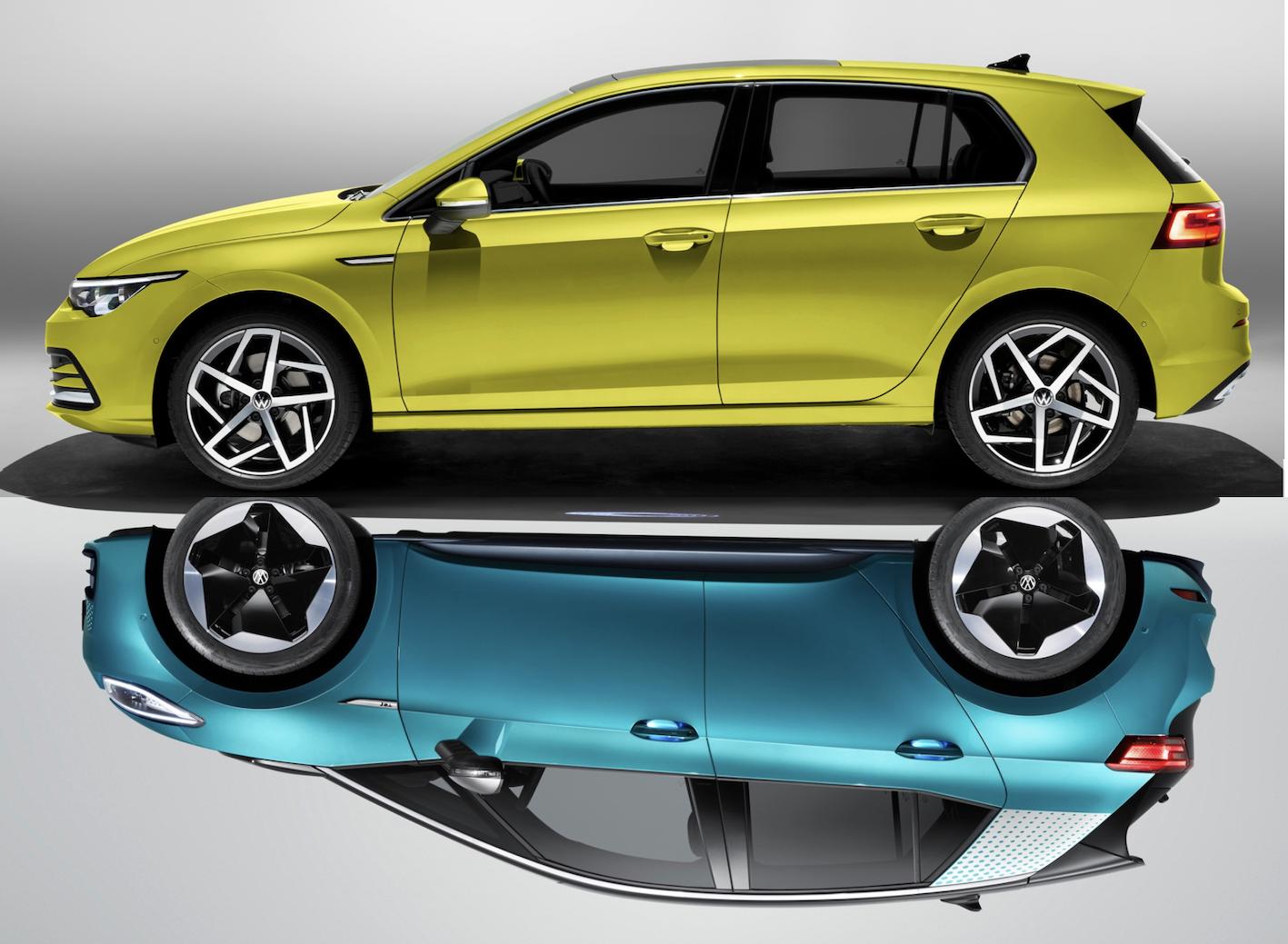 Design : VW Golf 8 – VW ID.3, les mêmes, en très différent ! NOTRE ANALYSE