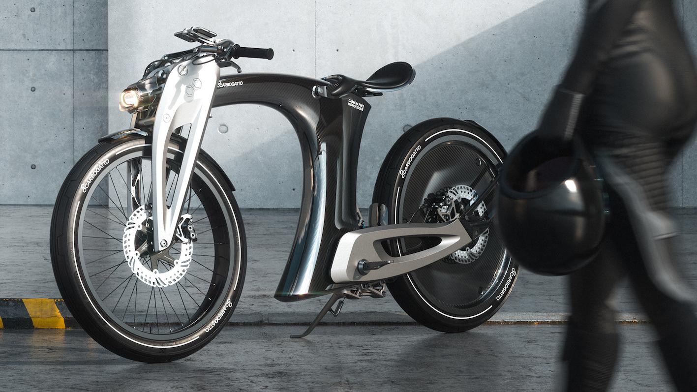 Carbogatto H7 : la moto urbaine qui s'inspire de Tesla.