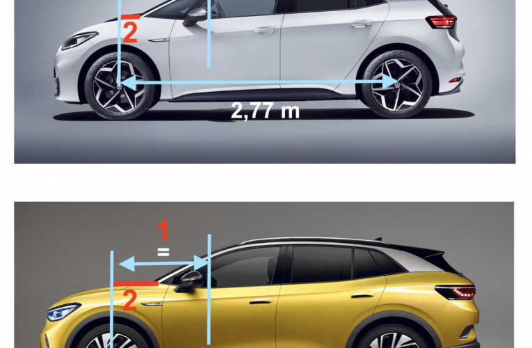 Design – VW ID.4 versus VW ID.3: more ideas!